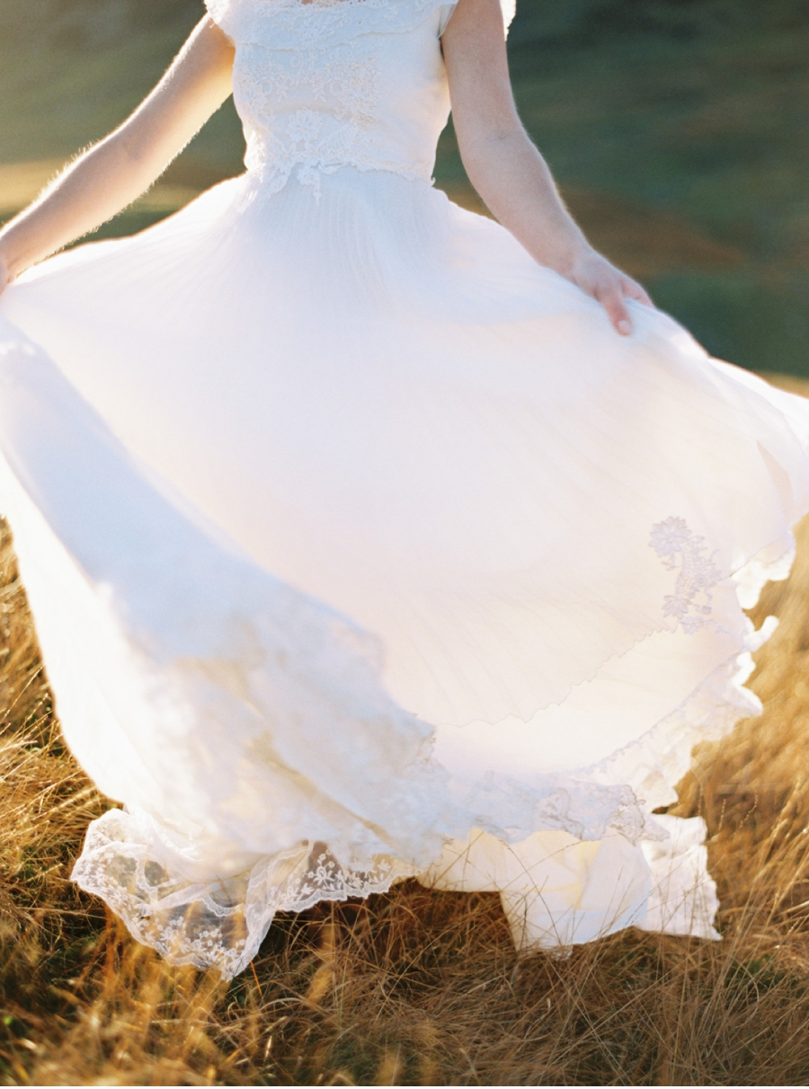 Bride-with-Swirling-Gown-at-Sunset