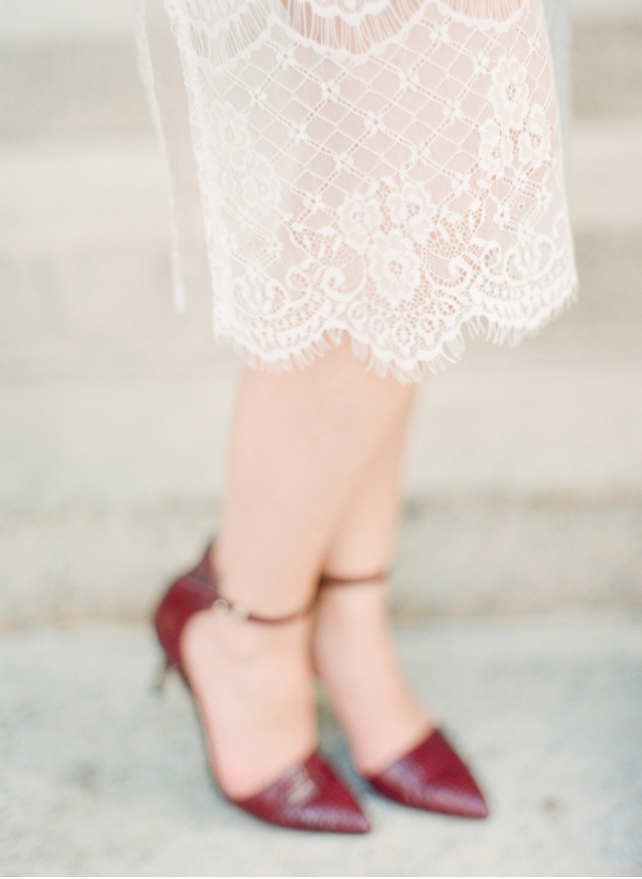 Burgundy-Heels-with-Lace-Dress