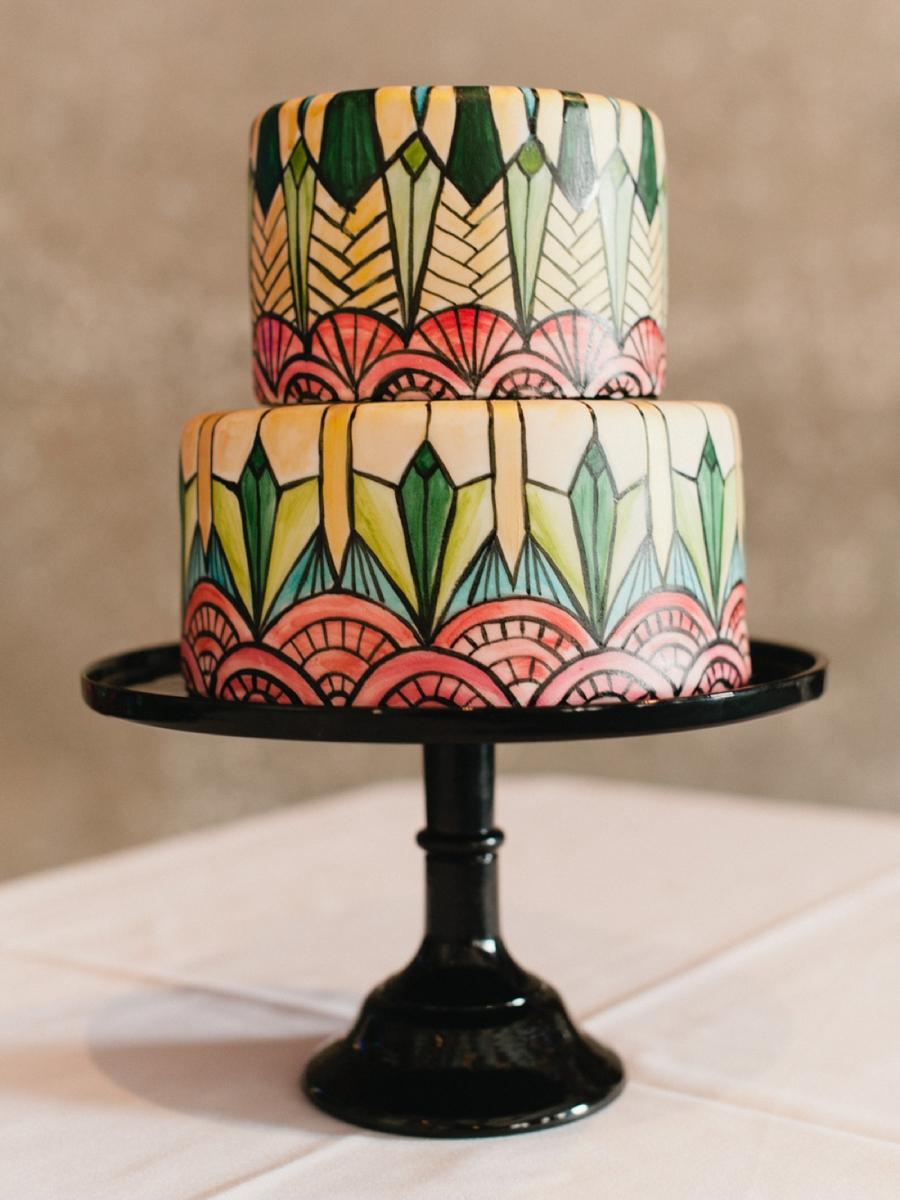 Art-Deco-Wedding-Cake