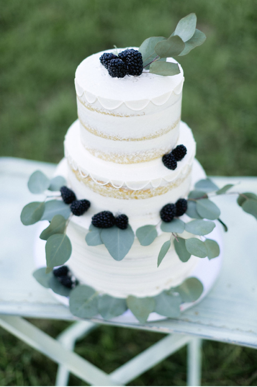 Three-Tiered-Wedding-Cake-with-Blackberries