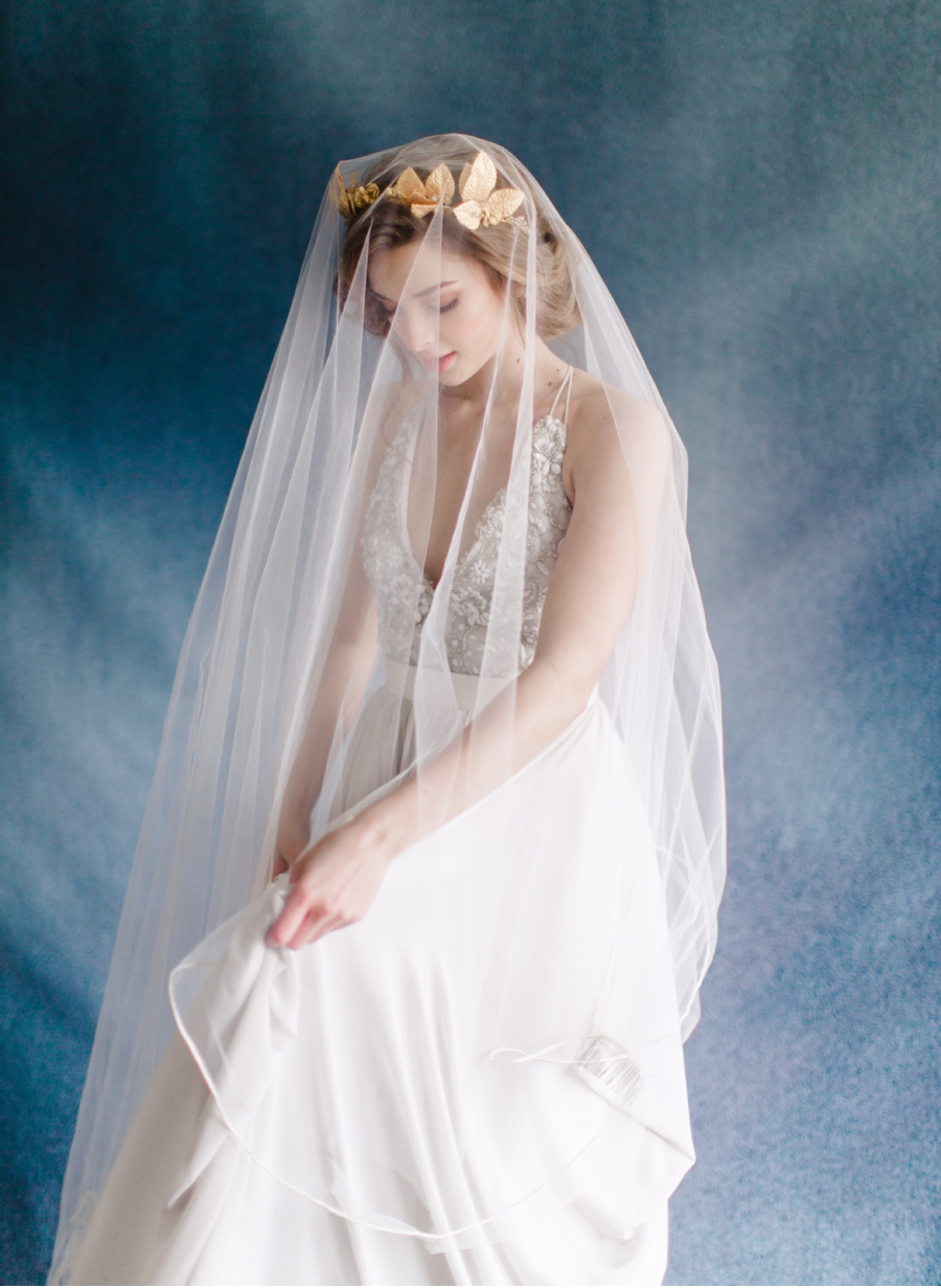 Bridal-Portrait-with-Blue-Backdrop