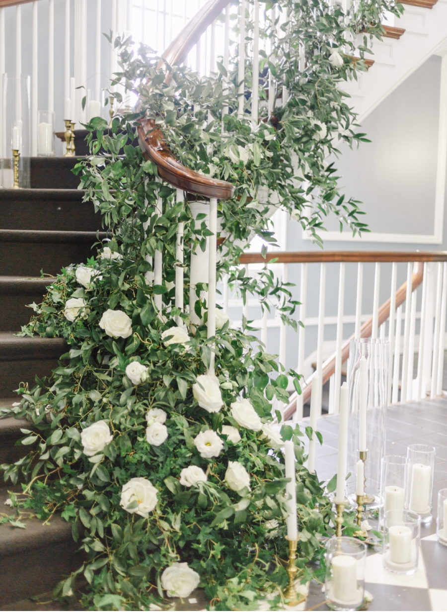 Floral-Arrangement-on-Winding-Staircase