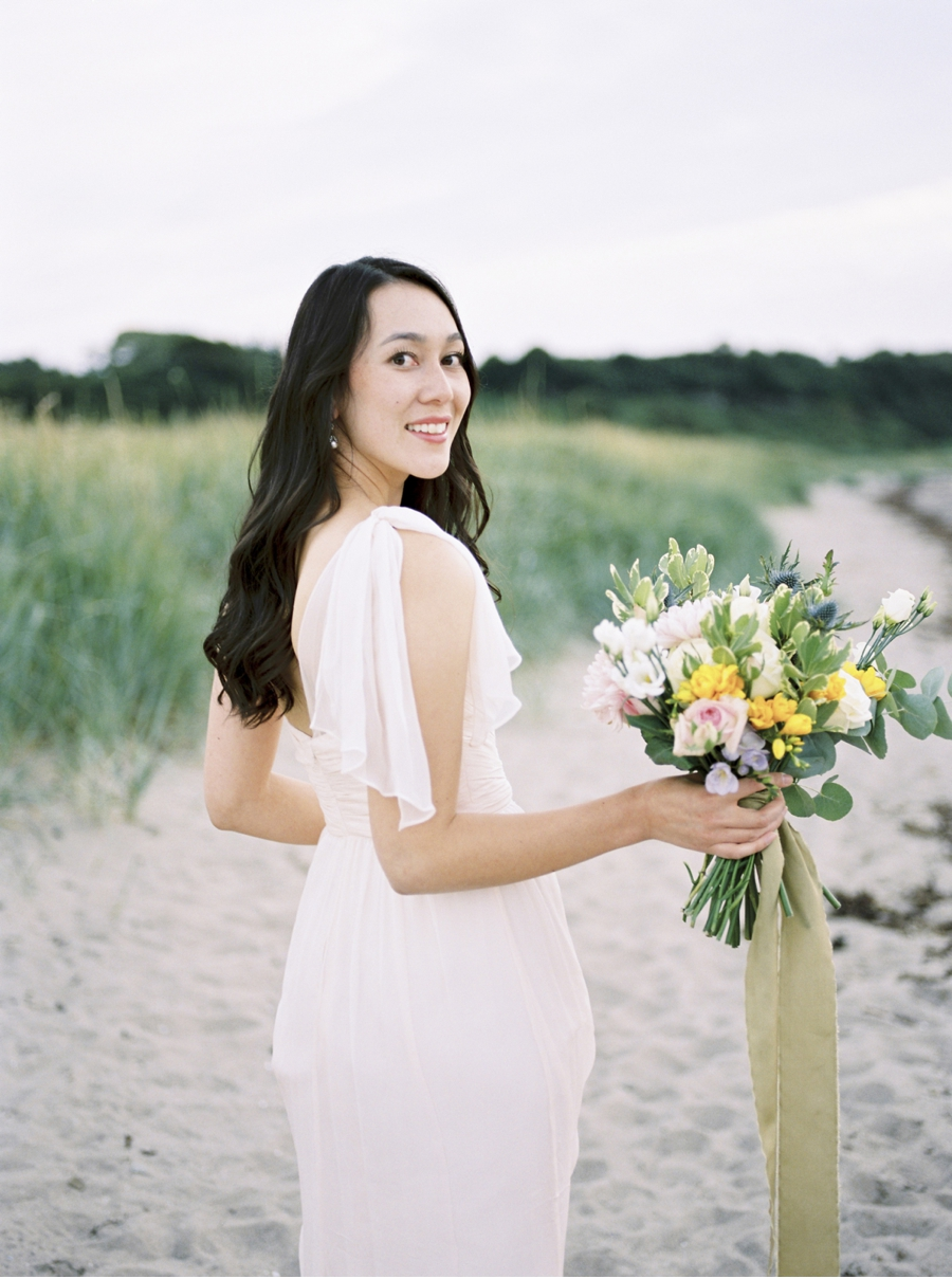 Bride-in-Blush-Gown-on-the-Beach