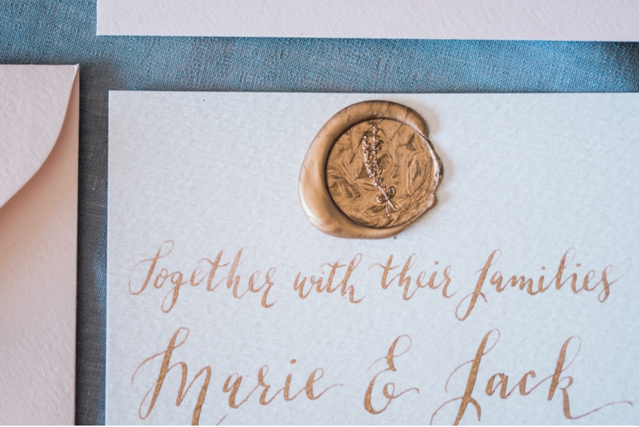 Bronze-Wax-Seal-and-Wedding-Invitation-Suite