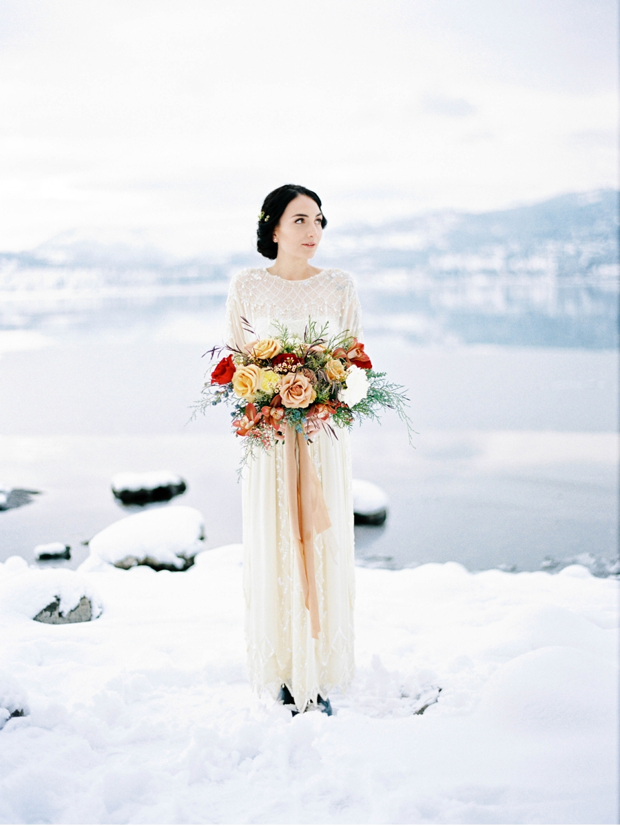 Bride-by-Okanagan-Lake-in-Winter