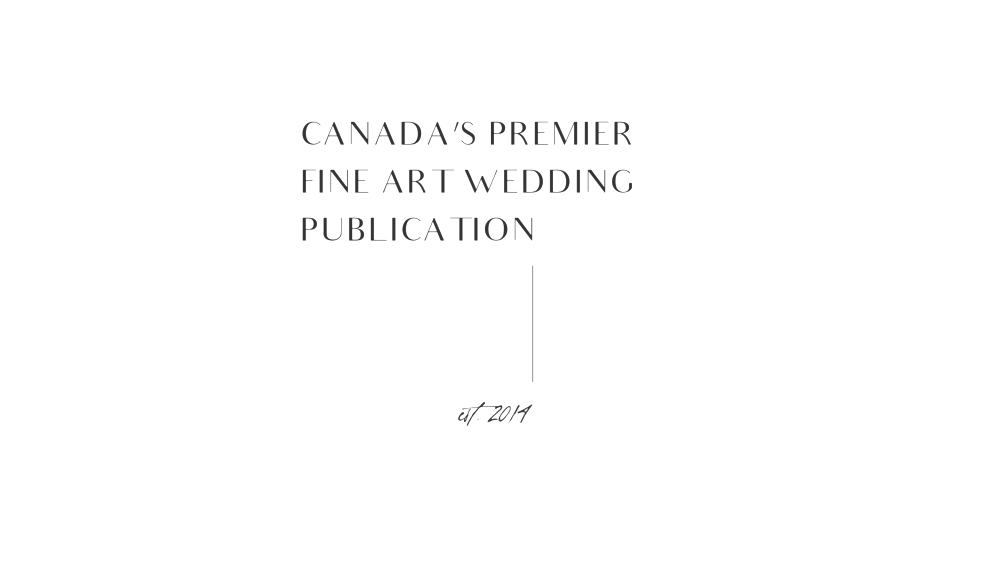 Canada Wedding Publication Blog Inspiration