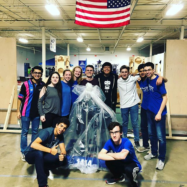 A picture from bag and tag! The reveal of our 2019 robot is now out (link in bio).