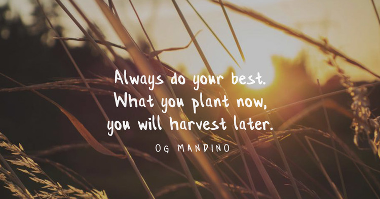 Quote Of The Week Og Mandino Nils Smith