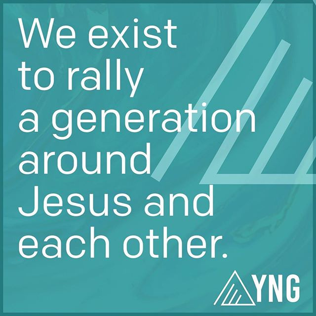 YNG is a community that encourages each other & cheers for each other - we put the focus on making sure that everyone close to us but far from God knows how much power there is in His name and this community. We are the generation who is ready to make moves for Jesus, NOW.