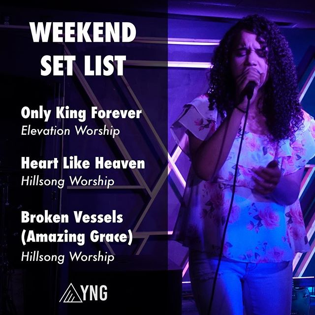 Did you enjoy worshipping with us last night? Here are the songs so you can listen to them during the week! #yngadults