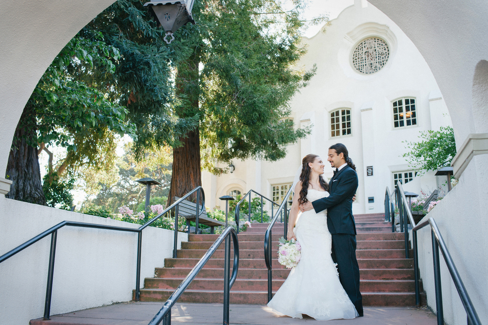 Heather and Amir were married at the Piedmont Community Church in Piedmont, Calif.