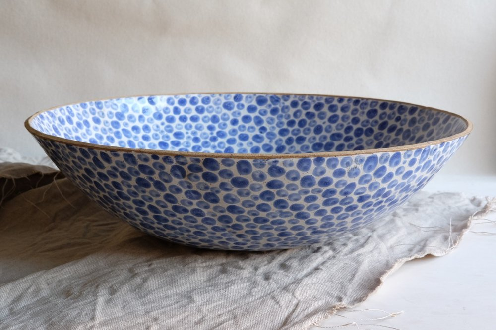 Blue Dots Big Bowl. Lana Kova