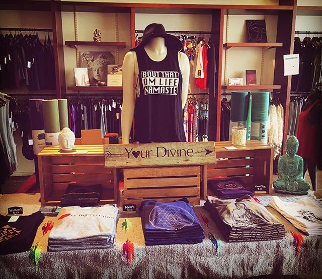 We're popping up at yogaworks San Francisco! Stop by this Sat/Sun 9-6 for the latest yoga/positive apparel. 💟🙏🏻📿💕#boutthatomlife#om#yoga#yogaworks#sanfrancisco#grateful#namaste#tshirt#tanktop#instashop#mens#womens#yourdivineapparel