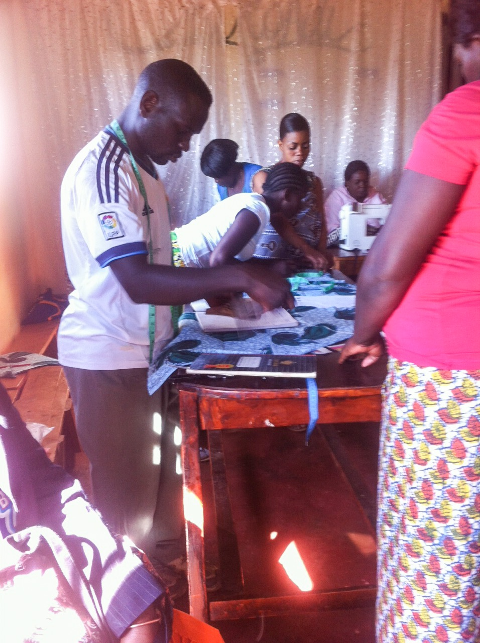 Richard, dad of twins, hard at work at the Chikondi Community Center.