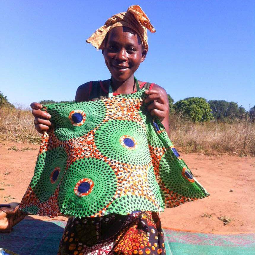 Iledi with her beautiful skirt.