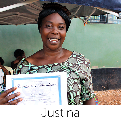 Wife, Mother of 7 Designer of Justina Coin Purse