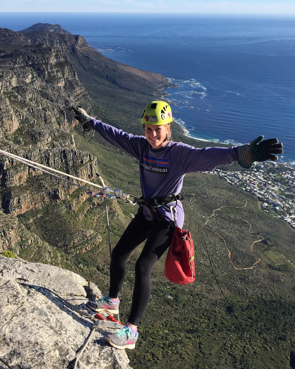 Corinne being adventurous in South Africa