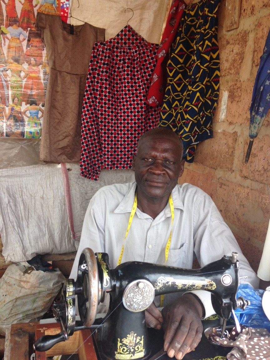 Francis graduated from the first class of the House of Moses/ACE/CACZ students. He now runs his own successful tailoring shop AND is the mastermind behind the Francis Shopper Totes.