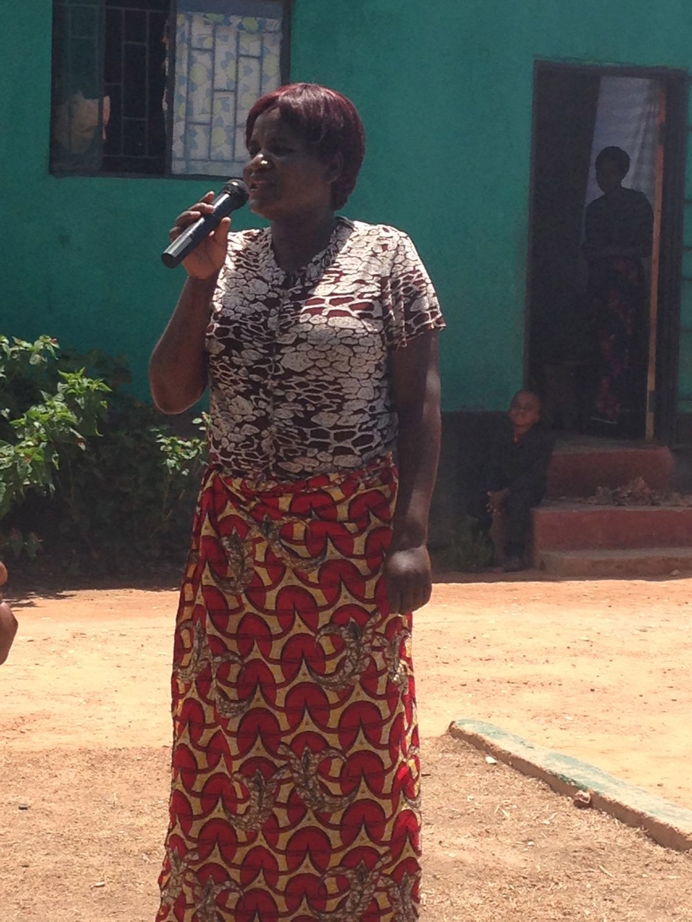 Women from Muchochoma Village made the 2 hour trek to our Chikondi Community Center! They performed skits they prepared as a group.