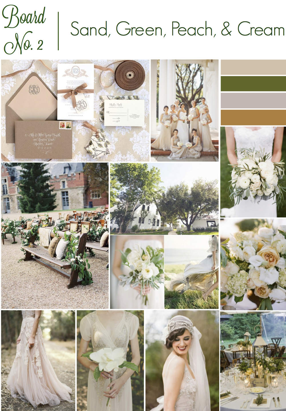 Sand and Green Wedding Inspiration