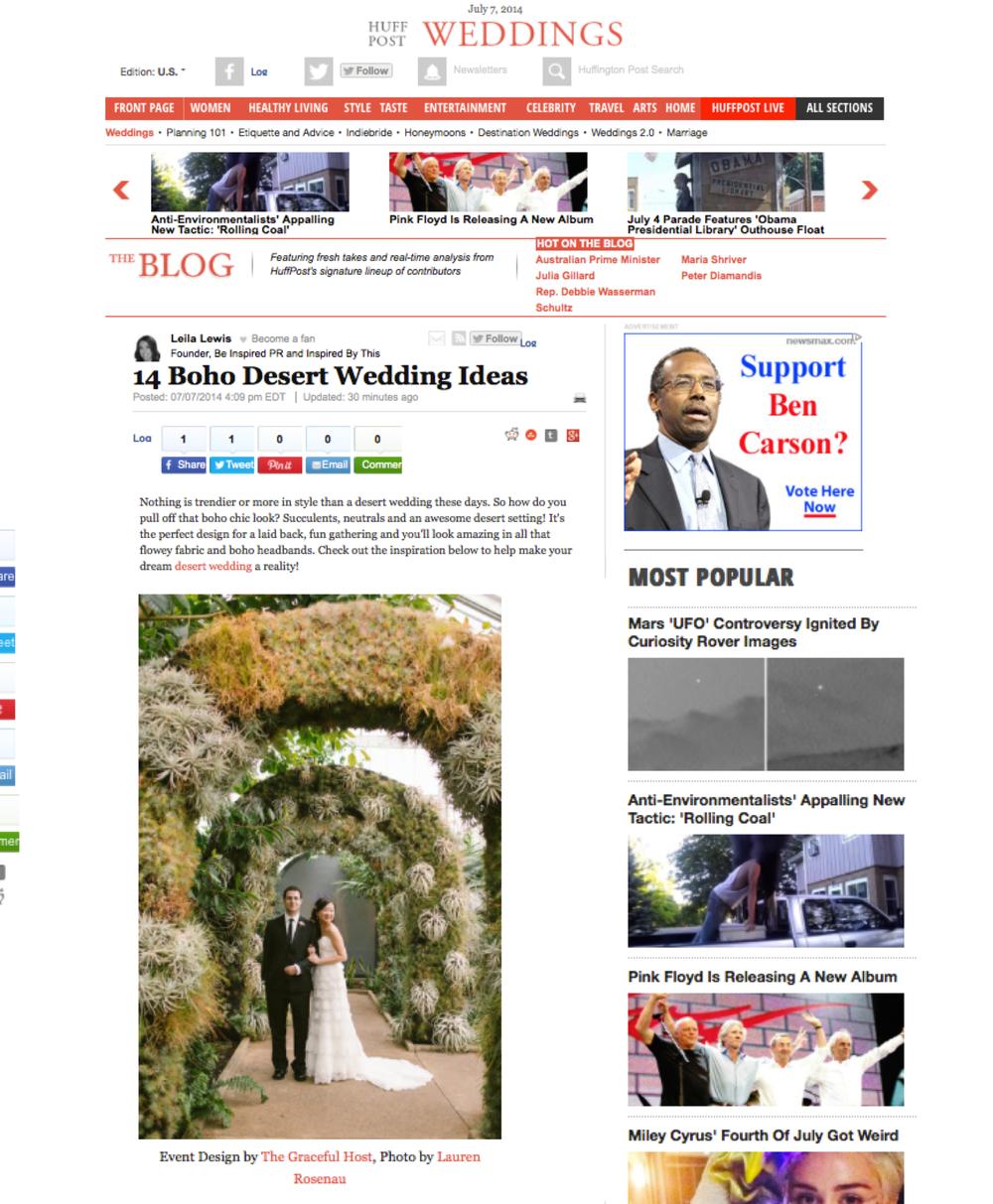Huffington Post Feature - Desert Boho Wedding