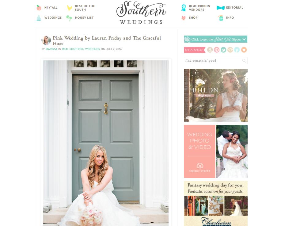Southern Weddings Feature - Keely and Hill