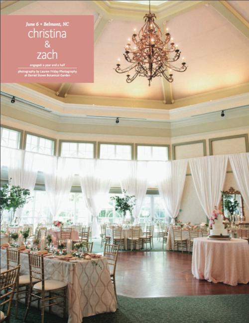 Featured + Real Wedding: Garden Elegance at Daniel Stowe Botanical ...