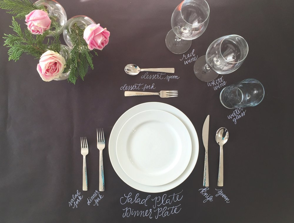 how to set a table - the graceful host - place setting help
