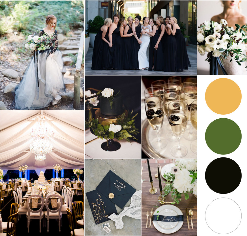 Black wedding inspiration - the graceful host, charlotte wedding planner - moody wedding inspiration