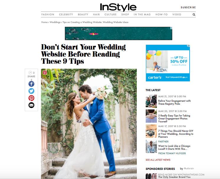 how to create a wedding website charlotte north carolina