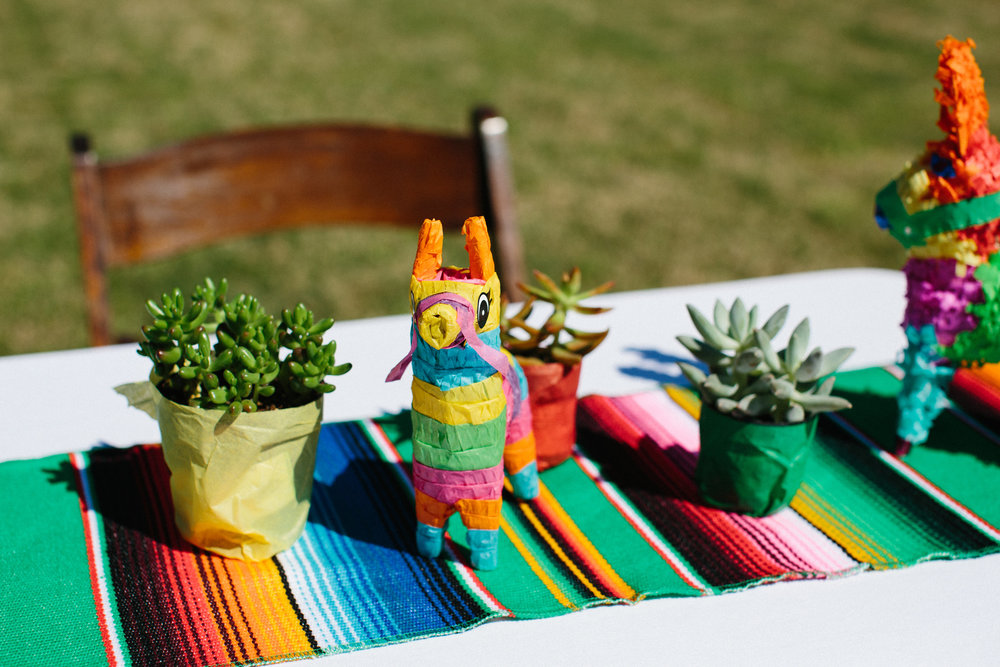Fiesta first birthday party centerpieces