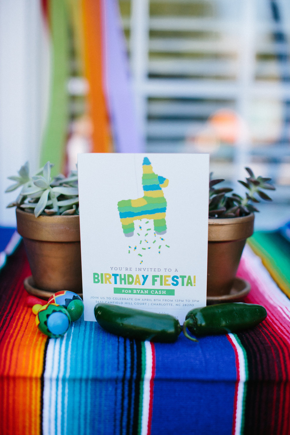 Fiesta first birthday party invitation minted