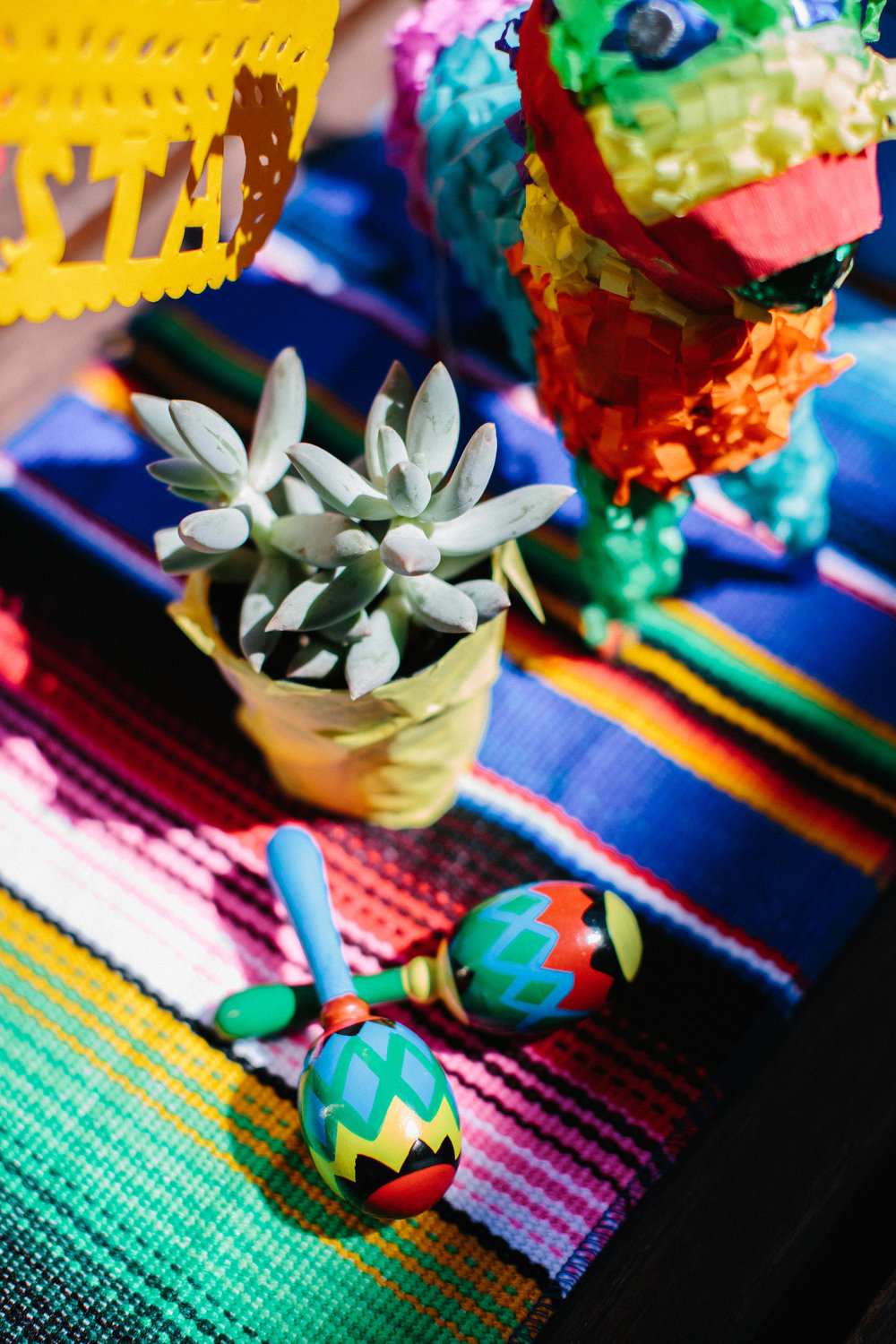 Fiesta first birthday party centerpieces cinco de mayo mini maracas
