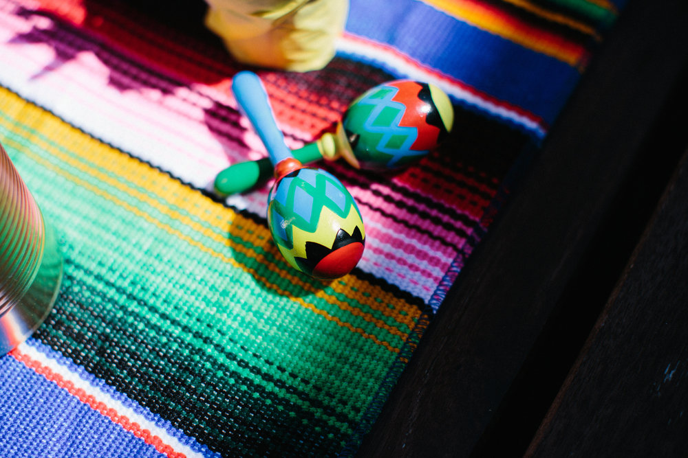 Fiesta first birthday party mini maracas
