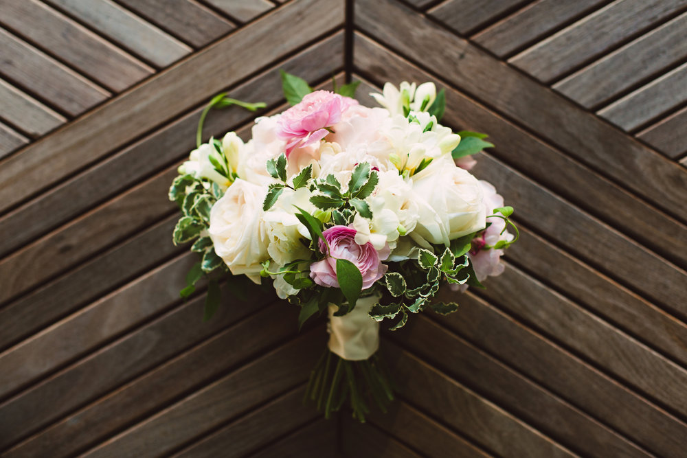 Pink ivory and green bridal bouquet, Summer wedding flowers, Bridal bouquet, Mint Museum Uptown wedding in Charlotte, North Carolina by The Graceful Host