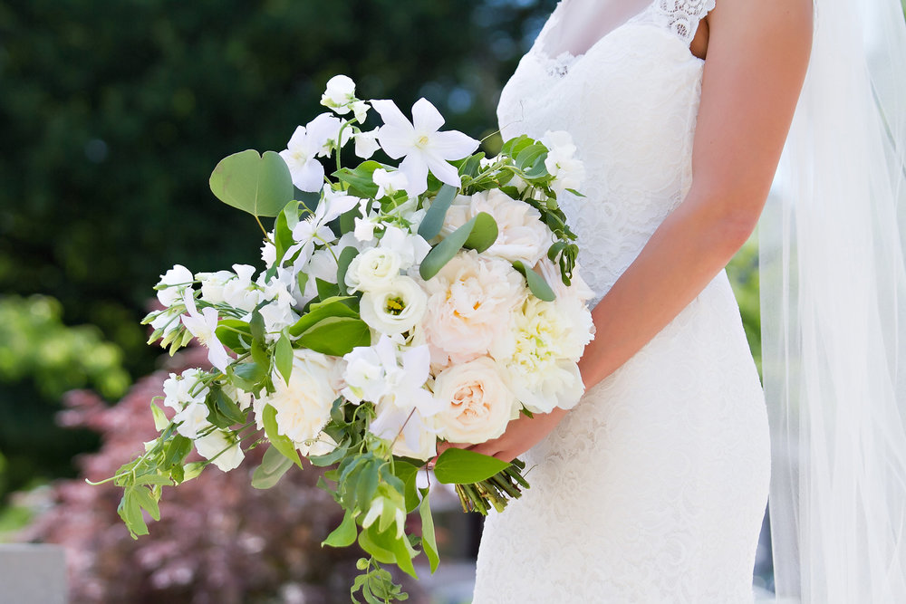 Charlotte North Carolina Wedding, Trump National Golf Course Wedding, Lakeside wedding, Blush Ivory and Greenery Wedding Design, The Graceful Host, Bridal Bouquet, Spring Wedding, Wedding Flowers, Big Bouquet Bride, Greenery Bouquet