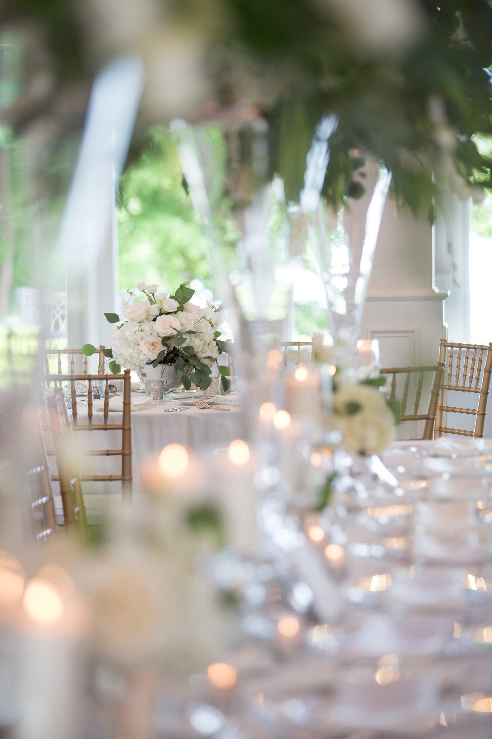 Charlotte North Carolina Wedding, Trump National Golf Course Wedding, Lakeside wedding, Blush Ivory and Greenery Wedding Design, The Graceful Host, Classic Wedding, Low Centerpiece, Wedding Flowers, Compote Wedding Centerpiece, Wedding Table Number Names, Peony Wedding, Spring Wedding, All White Wedding