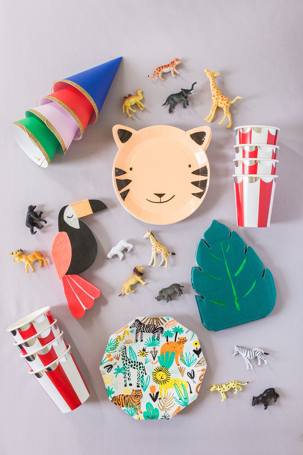 Party Animals - Go wild! A curated box full of everything you need to throw the wildest celebration ever!Each Party Animal kit is perfect for parties with up to 24 party guests.Party on, y'all!