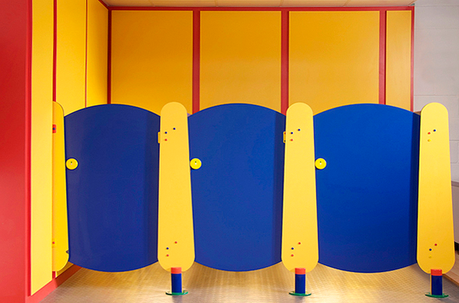 Children's toilet cubicle system