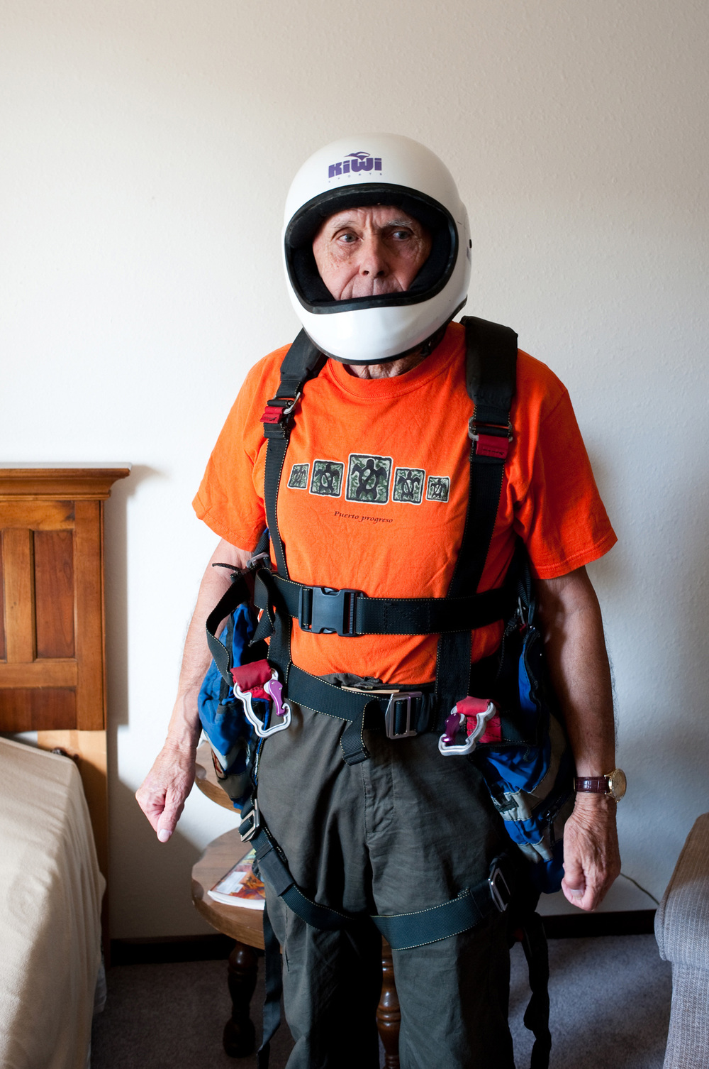 Dennis in his Flight Costume  The thing I regret most is, that I didn't become an astronaut and never went into space.