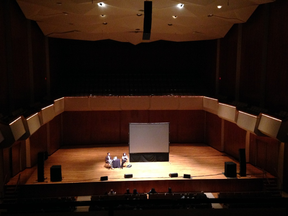Sharon Ibsin & Colin Davin in conversation, in Foellinger Great Hall
