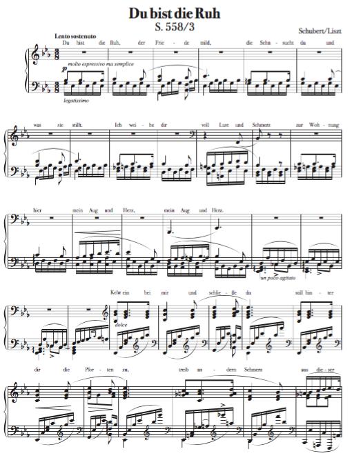 """""""Du Bist ..."""" - Schubert/Liszt"""
