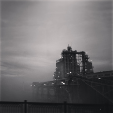 foggy morning, Steel Bridge