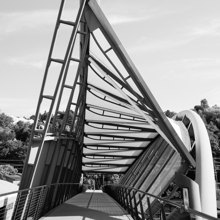 Amgen helix pedestrian bridge