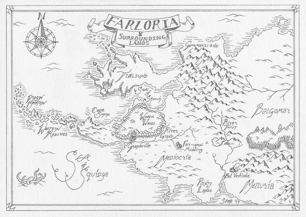 Farloria and Surrounding Lands — map by Kaitlin Statz