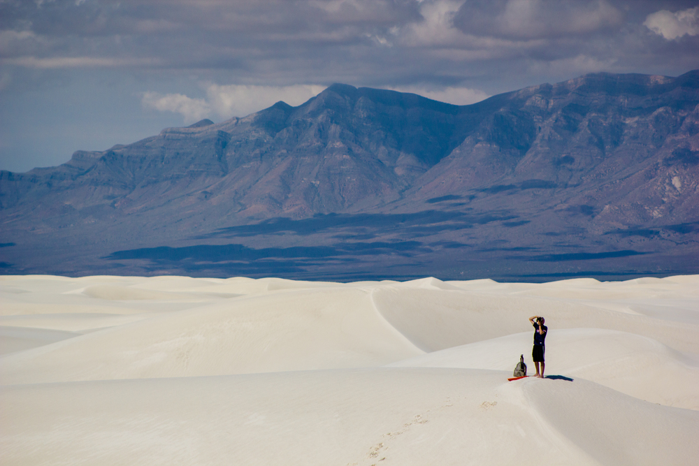 Shooting photos while on the dunes of White Sands National Park.