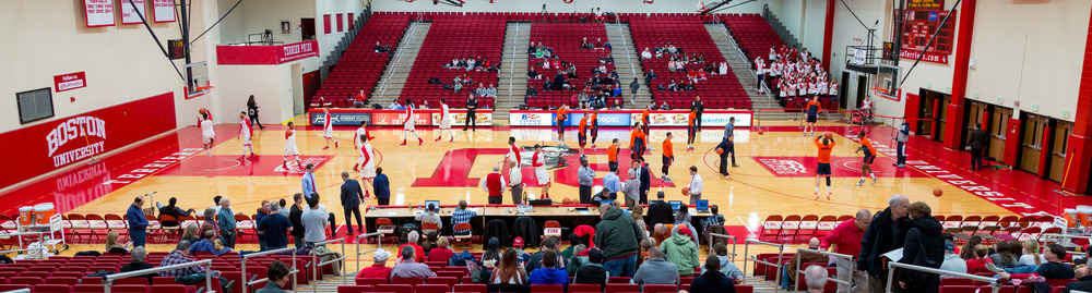 Boston University and Bucknell warm-up before their game on Saturday Jan. 23rd.
