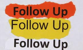 November 1st - Online Follow-Up Support