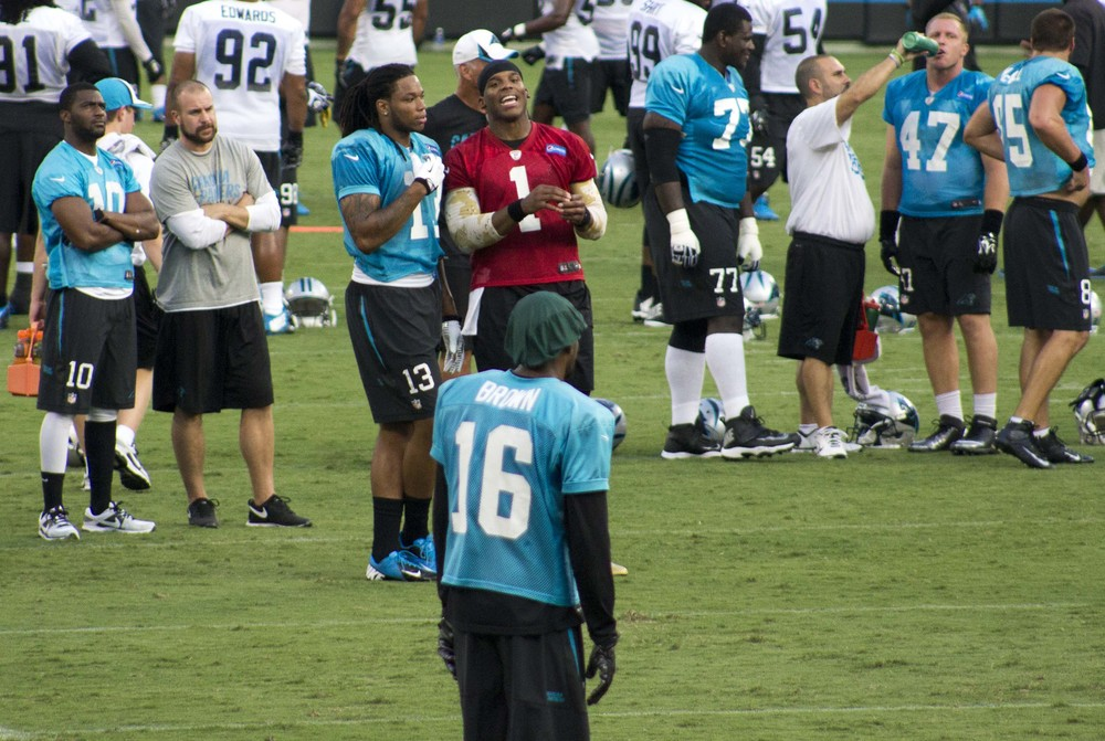 Kelvin Benjamin and Cam Newton