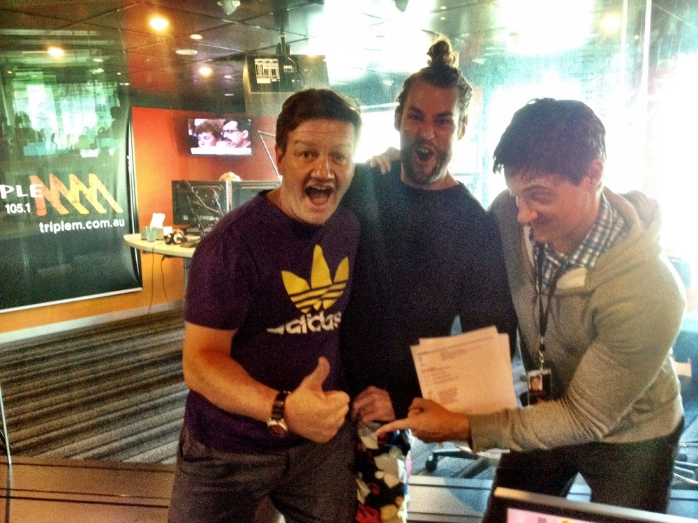 Ash w Lawrence Mooney and Ed Kavalee - Triple M